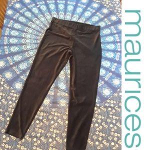 Size 1 plus soft velvet black leggings